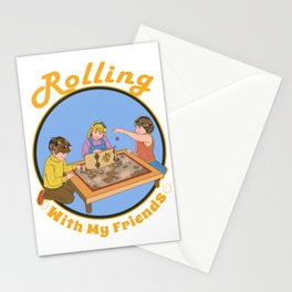 Retro DM Tabletop Gaming Gift Vintage With Friends D20 Dice Print Stationery Cards
