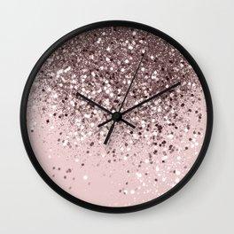 Cali Summer Vibes Lady Glitter #13 #shiny #decor #art #society6 Wall Clock