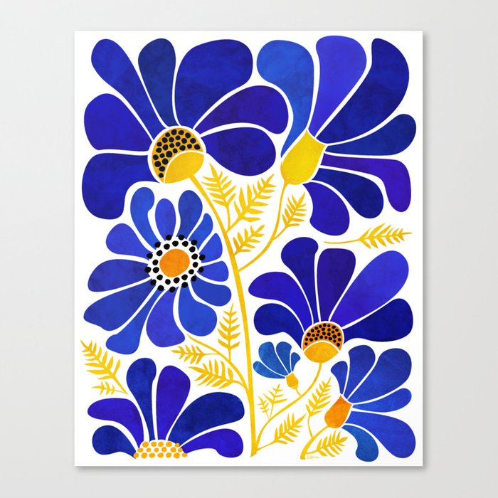 The Happiest Flowers Canvas Print