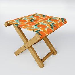 Orange Harvest - Blue Folding Stool