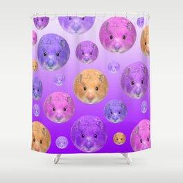 Hamster illustration original painting print Shower Curtain