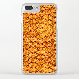 Digital knitting pattern Clear iPhone Case