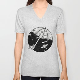 There is no rain on the moon Unisex V-Neck