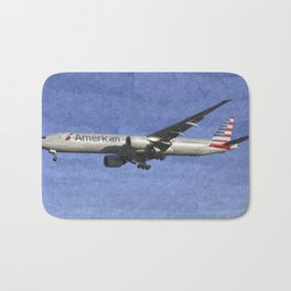 American Airlines Boeing 777 Art Bath Mat