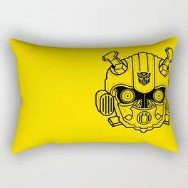Bumble bee lineart Yellow Rectangular Pillow