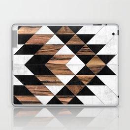 Urban Tribal Pattern No.9 - Aztec - Concrete and Wood Laptop & iPad Skin