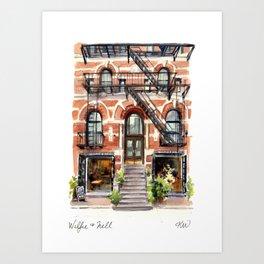 Wilfie & Nell Art Print