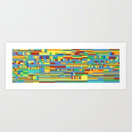 Chromatetude (Candy Colours) Art Print