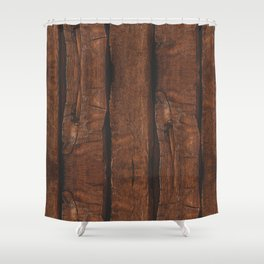 Rustic brown old wood Shower Curtain
