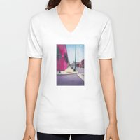 memphis V-neck T-shirts featuring Memphis Drawing by wendygray
