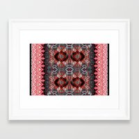 ikat Framed Art Prints featuring Ikat by Sofia Perina-Miller