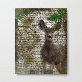 Wildlife Series Deer By Moon Willow Designs Metal Print