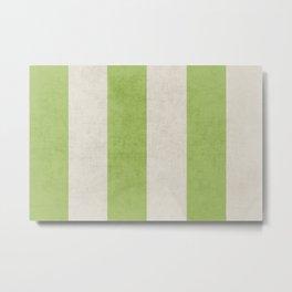 vintage green stripes Metal Print
