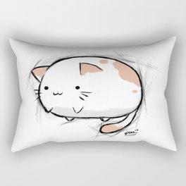Fat Kawaii Cat Rectangular Pillow