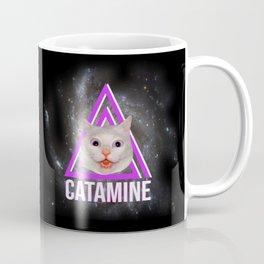 Funny cat on drugs sarcastic design  Coffee Mug