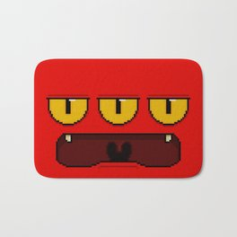 Batty Angry (pixel) Bath Mat