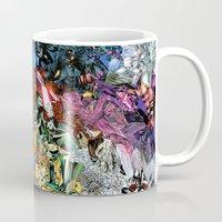 xmen Mugs featuring The XMen by MelissaMoffatCollage