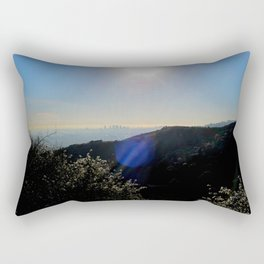 Los Angeles view from Runyon Canyon Rectangular Pillow