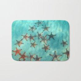 Ocean and starfish Bath Mat