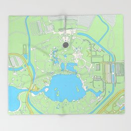map of epcot   Throw Blanket