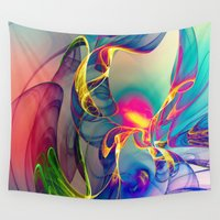 mad Wall Tapestries featuring Sunrise by Klara Acel