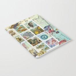 Undersea Garden Postal Collage Notebook