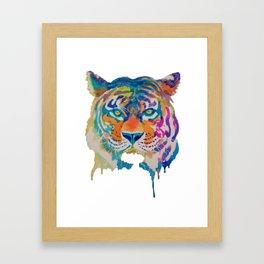 Dripping Paint Tiger Framed Art Print