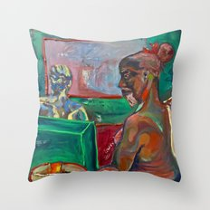 Big Brother Coffee Shop Throw Pillow