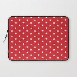 Superstars White on Red Small Laptop Sleeve