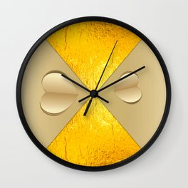 Heart cut out of paper Wall Clock
