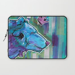 Blue Bear King Laptop Sleeve