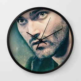 Derek in Green Wall Clock