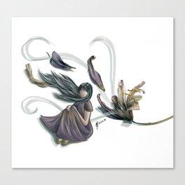 Windy petals Canvas Print