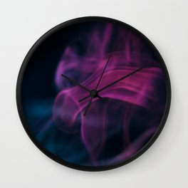 Purple Smoke Wall Clock