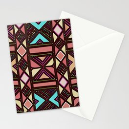 African No6 Coral Stationery Cards