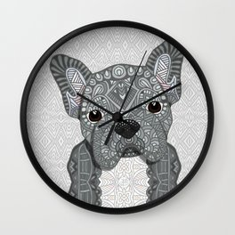 Gray Frenchie 001 Wall Clock