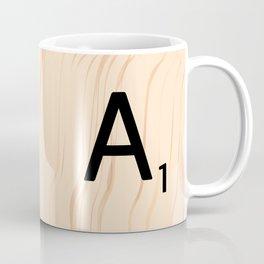 Letter A Scrabble Art Coffee Mug
