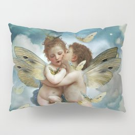 """Angels in love in heaven with butterflies"" Pillow Sham"