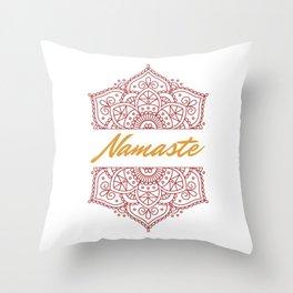 Namaste | Lotus Flower Yoga Yoga Jogi Meditation Throw Pillow