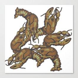 Pattern of crayfish Canvas Print