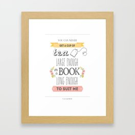 C.S. Lewis Quote  Framed Art Print