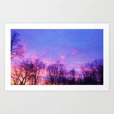 Valentine's Day Sky Art Print