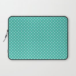 Pastel green white geometric simple polka dots Laptop Sleeve