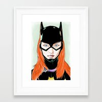 batgirl Framed Art Prints featuring Batgirl by Matthew Bartlett