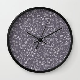 A Plethora (Purple Smoke) Wall Clock