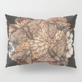 Flowers and Moths Pillow Sham