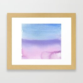 Bisexual Watercolor Wash Framed Art Print