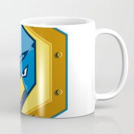 Cyber Punk Chicken Hexagon Icon Coffee Mug