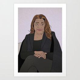 Zaha Hadid Vector Portrait - Full Bleed Art Print