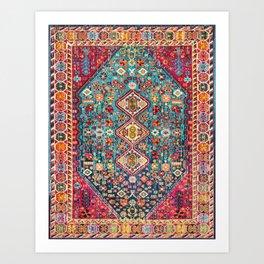 N131 - Heritage Oriental Vintage Traditional Moroccan Style Design Art Print